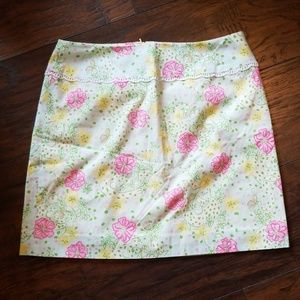 Lilly Pulitzer Pleated A-Line Cat Skirt